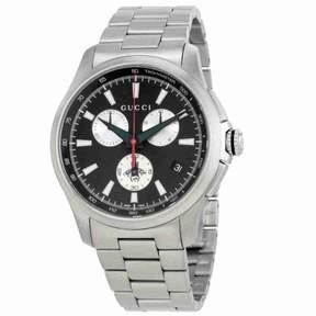 Gucci G-Timeless Chronograph Black Dial Men's Watch YA126267