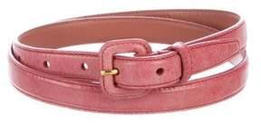 Miu Miu Leather Thin Belt