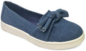 Bamboo Blue Denim Bow-Accent Habit Sneaker - Women