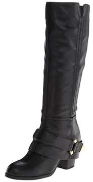 Fergie Womens Theory Leather Almond Toe Knee High Fashion Boots.