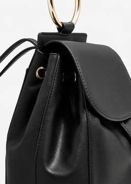 MANGO Metallic hand backpack