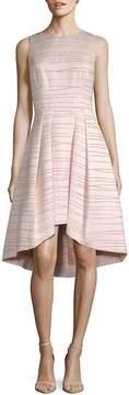 Shoshanna Women's MIDNIGHT Coraline Metallic Striped Jacquard Dress