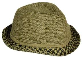 Nine West Women's Patterned Straw Fedora Hat (Brown, OS)