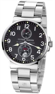 Ulysse Nardin e Maxi Marine Chronometer Black Dial Stainless Steel Men's Watch 263-66-7-62