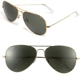 Ray-Ban Men's 'Org Aviator' 62Mm Sunglasses - Gold Green