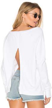 Black Orchid Open Back V Neck Sweatshirt