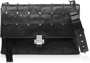 N°21 Studded Leather Flap Top Shoulder Bag