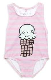 Stella McCartney Baby's Molly Striped Ice Cream Swimsuit