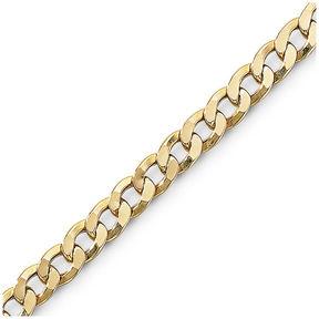 JCPenney FINE JEWELRY Mens 10K Gold 8.5 6mm Semi-Solid Curb Bracelet