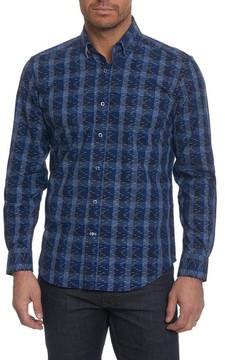 Robert Graham Men's Big & Tall Tailored Fit Print Sport Shirt
