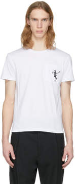 Alexander McQueen White Dancing Skeleton T-Shirt
