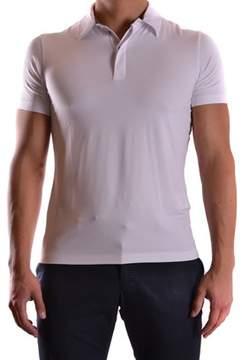 Armani Collezioni Men's White Viscose Polo Shirt.