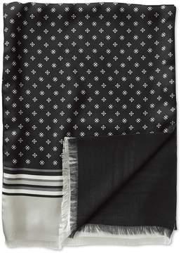 Charles Tyrwhitt Black Geometric Silk Scarf