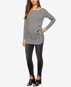Articles of Society Maternity Frayed-Hem Skinny Jeans