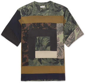Dries Van Noten Patchwork Printed Cotton-Jersey T-Shirt