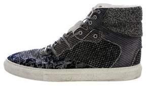 Balenciaga Woven High-Top Sneakers