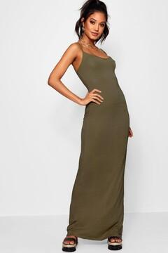 boohoo Hedda Basic Strappy Maxi Dress