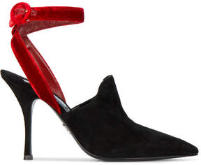 Prada 100 pointed-toe velvet pumps
