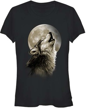 Fifth Sun Black Native Wolf Tee - Women