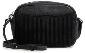 Steven Alan Ayla Leather & Quilted Suede Camera Bag - Black