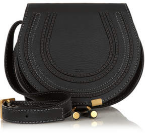 Chloé - The Marcie Mini Textured-leather Shoulder Bag - Black