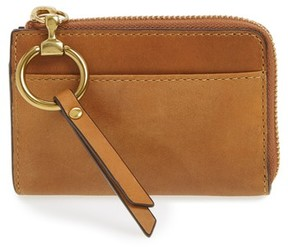 Frye Women's Small Ilana Harness Leather Zip Wallet - Brown