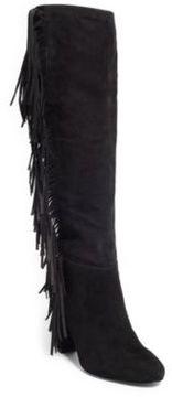 Ralph Lauren Vanida Suede Knee-High Boot Black 7