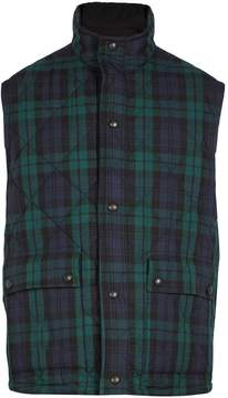 Burberry Reversible tartan quilted-cotton gilet