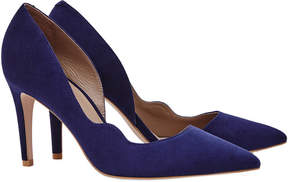 Reiss Bardot Suede Court Shoe