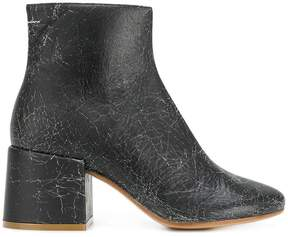 MM6 MAISON MARGIELA cracked detail boots