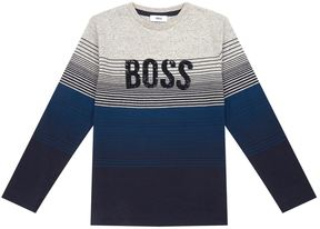 HUGO BOSS Stripe Long Sleeve T-Shirt