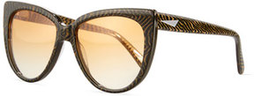 Prism Moscow Cat-Eye Sunglasses, Tiger Stripe