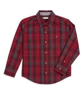 Calvin Klein Jeans Boy's Plaid Button-Down Shirt