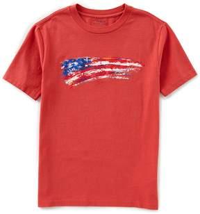 Ralph Lauren Big Boys 8-20 Short-Sleeve Americana Flag-Inspired Graphic Tee