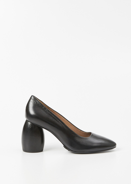 Dries Van Noten Black Leather Heel