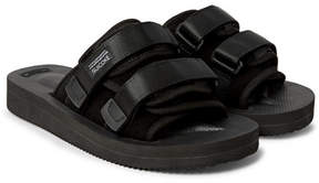 Suicoke Moto-Vs Suede And Webbing Sandals