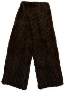 Barneys New York Barney's New York Knitted Mink Fur Stole