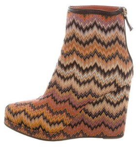 Missoni Chevron Patterned Ankle Boots