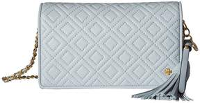 Tory Burch Fleming Flat Wallet Crossbody Cross Body Handbags - SELTZER - STYLE