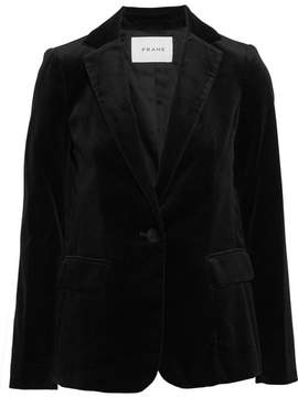 Frame Cotton-blend Velvet Blazer - Black