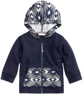 First Impressions Geo-Print Zip-Up Hoodie, Baby Boys (0-24 months), Created for Macy's
