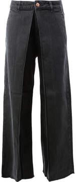 Aalto panelled wide-leg jeans