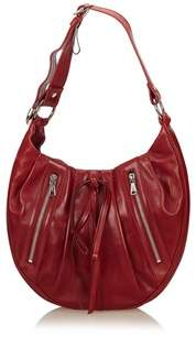 Saint Laurent Pre-owned: Rive Gauche Classic Pleated Hobo. - RED - STYLE