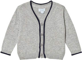 Mini A Ture Noa Noa Miniature Grey and Navy Long Sleeved Cardigan