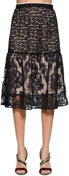 N°21 Animalier & Demask Lace Skirt
