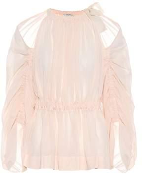 Fendi Cotton voile blouse