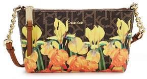 Calvin Klein Hayden Floral Monogram Cross-Body Bag