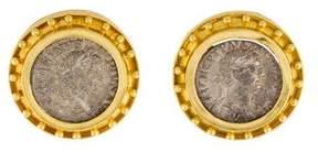 Elizabeth Locke 18K Coin Earclips