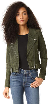 Blank Genuine Suede Moto Jacket