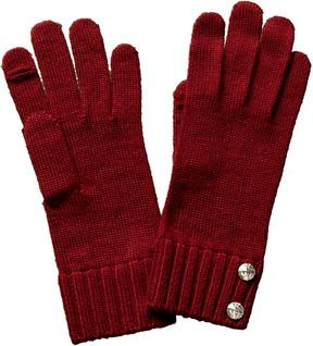 Portolano Women's Red Wool-Blend Gloves